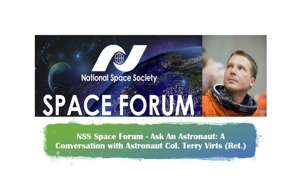 NSS Ask an Astronaut with Col. Terry Virts – My questions answered!! [Video] 👨‍🚀🛰